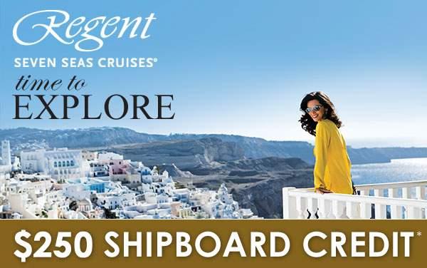 Regent Seven Seas: $250 Free Onboard Credit*