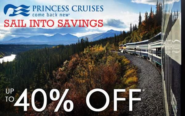Princess Cruises: up to 40% OFF Alaska Cruisetours