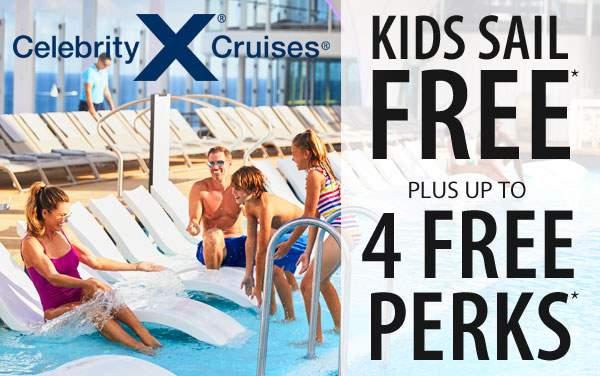 Celebrity Cruises: Free Perks plus Kids Sail Free*
