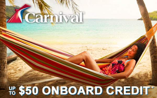 Carnival 1-Week Sale: up to $50 Onboard Credit*