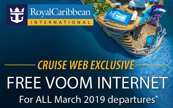 Royal Caribbean: Free VOOM Internet*