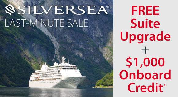 Silversea: Free Suite Upgrade and $1,000 OBC*