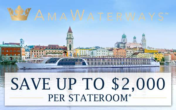 AmaWaterways: up to $2,000 Savings for Europe*