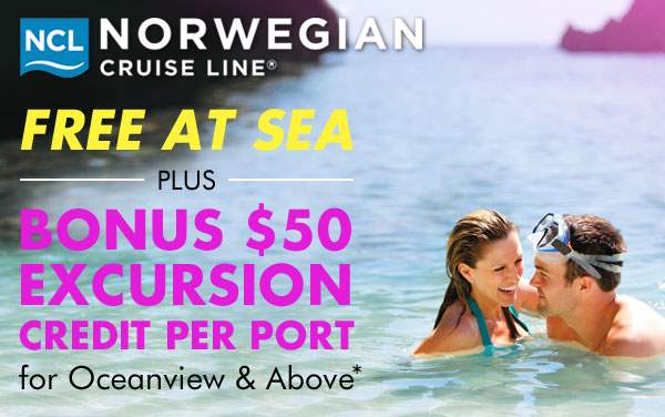 Norwegian: FREE Bonus Excursion Credits Per Port*