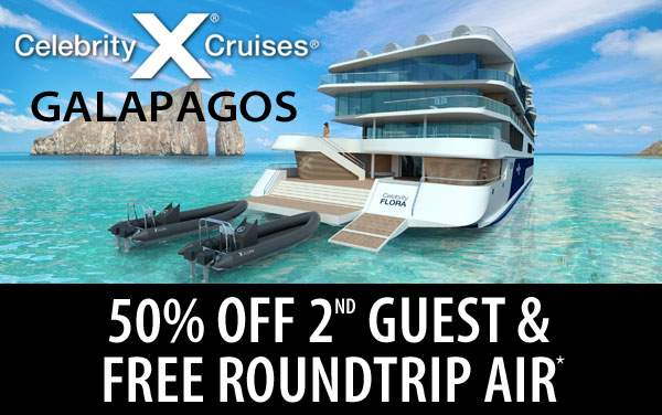 Galapagos: 50% Off 2nd Guest and Free Air*