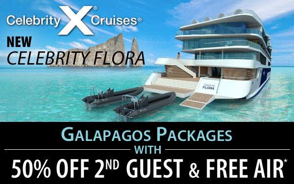 Galapagos: Free Air and 50% Off 2nd Guest*