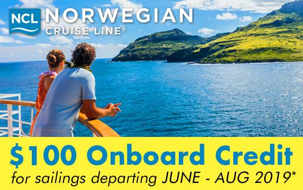 Norwegian Cruise Line: $100 FREE Onboard Credit*