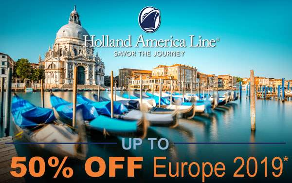 Holland America Europe Sale: up to 50% OFF*