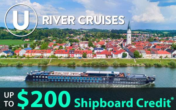 U River Cruises: up to $200 Shipboard Credit*
