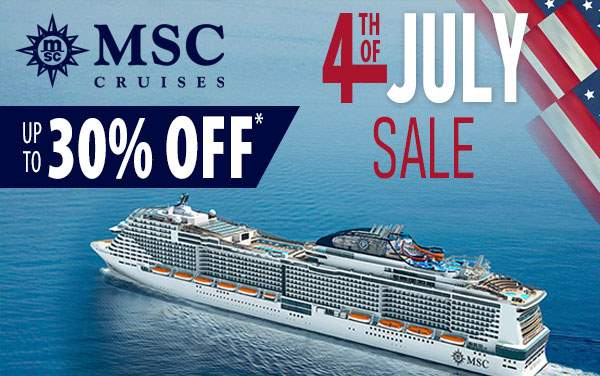 MSC Cruises 4th of July Sale: Caribbean Cruises from $409*
