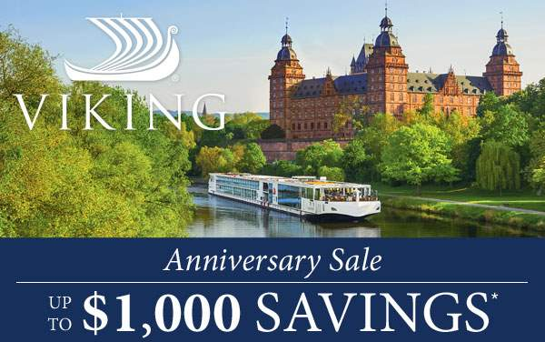 Viking Rivers: up to $1,000 Bonus Savings*