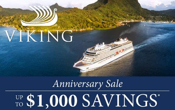 Viking Oceans: up to $1,000 Bonus Savings*