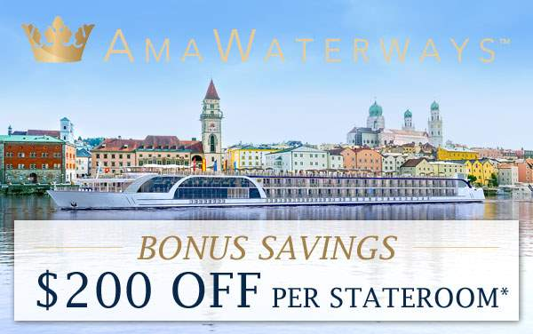 AmaWaterways: $200 OFF per couple*