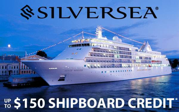 Silversea Sale: up to $150 Shipboard Credit*