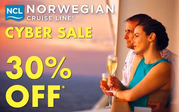 Norwegian Cruise Line Cyber Sale: 30% OFF*