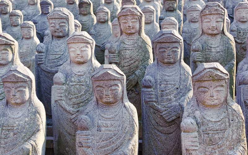1000 Arahan Statues at Gwaneumsa Buddhist Temple