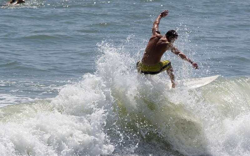Surfer in Cocoa Beach Florida Royal Caribbean