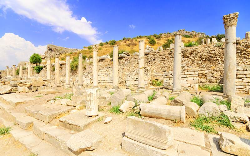 Ancient ruins in Ephesus, Turkey Royal Caribbean