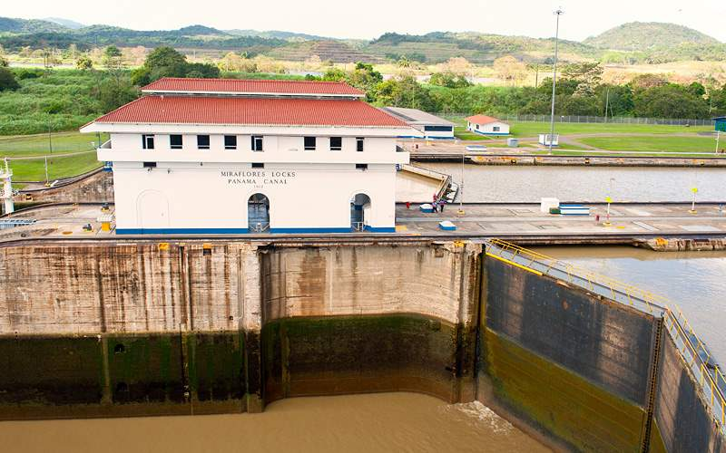 Miraflores Locks in Panama Canal repositioning