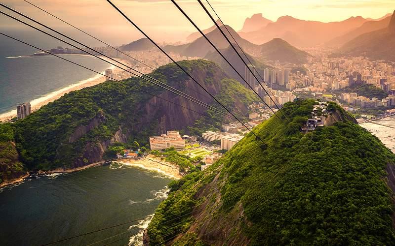 Approaching Sugarloaf Mountain in Rio de Janeiro