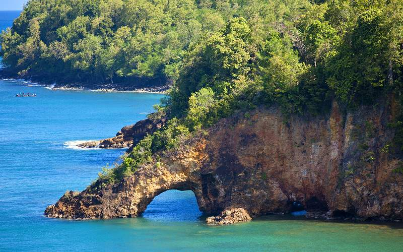 Rock Arch in Castries, St. Lucia Royal Caribbean