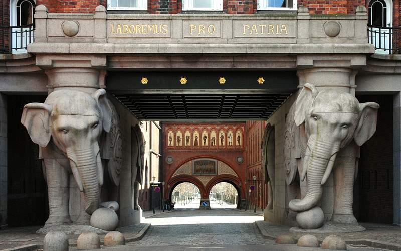 Elephant Tower at Carlsberg Brewery in Copenhagen