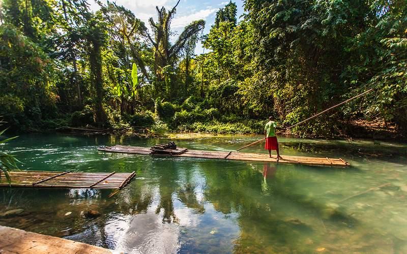 Rafting down Martha Brae River in Jamaica Royal