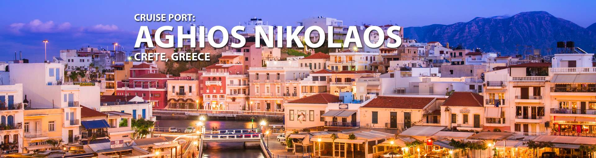 Cruises to Aghios Nikolaos, Crete, Greece