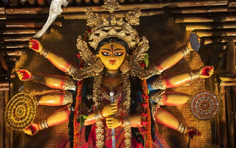 An Indian Deity Goddess Durga, India