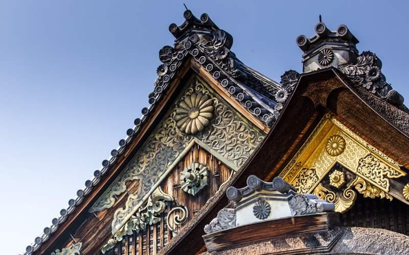 The Nijo-jo Castle in Kyoto, Japan