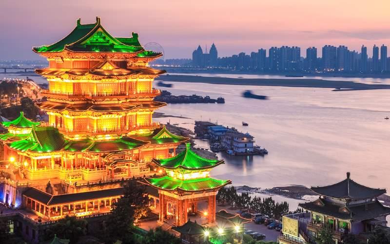 The Tengwang Pavilion in sunset, China
