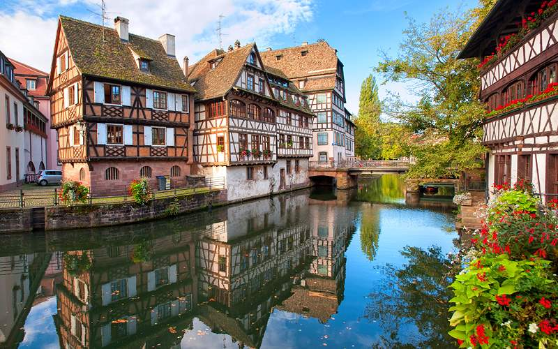 Timbered homes Strasbourg France Avalon Waterways