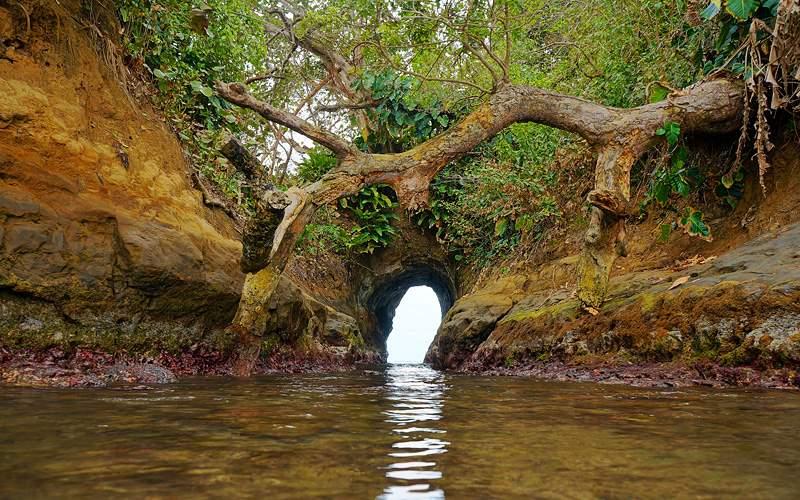 Cave on the coast of Caribbean sea Azamara Cruises