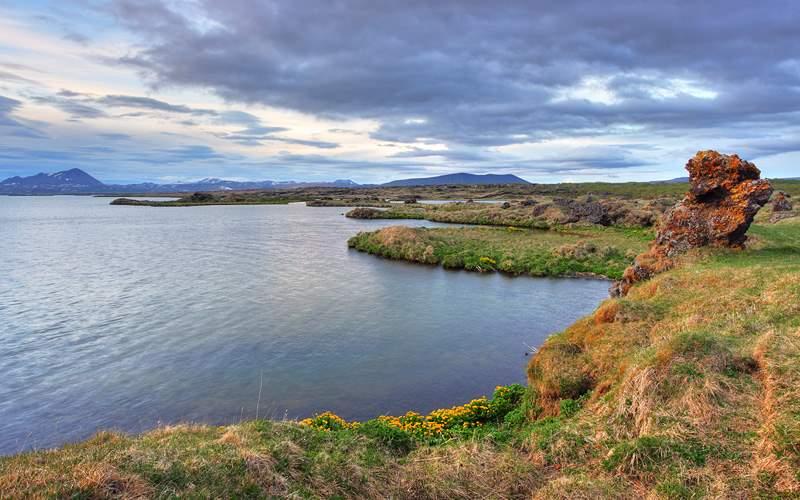 Myvatn lake Iceland at sunset Azamara Club Cruises