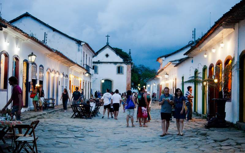 Evening in Parati, Brazil