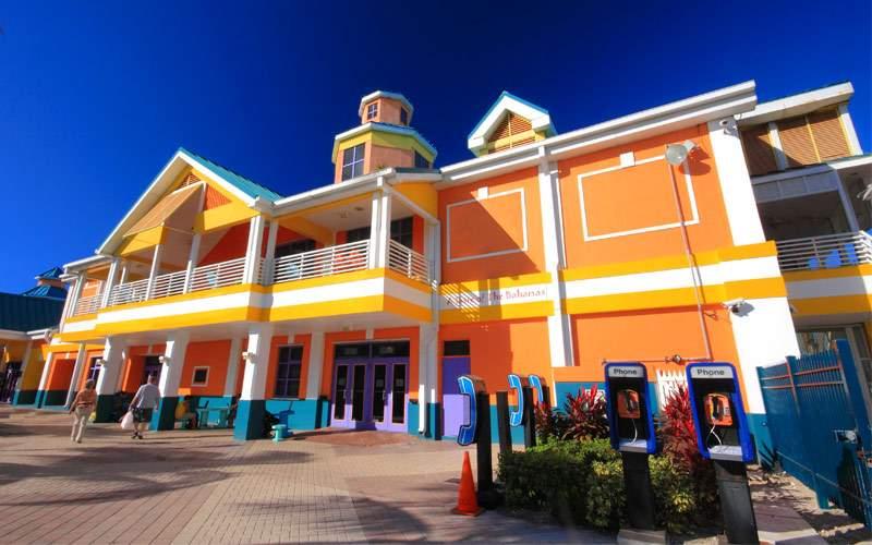 Bahamas pier landscape Nassau City Caribbean