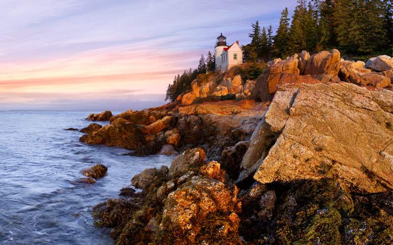 Lighthouse in Bass Harbor, Maine