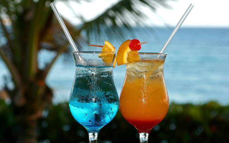 Caribbean colorful cocktails Carnival Cruises