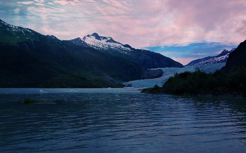 view of Mendenhall Glacier Carnival Cruies Alaska