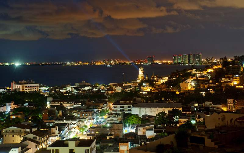 Puerto Vallarta skyline in Mexico Carnival Cruises