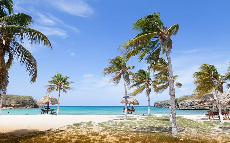 Santa Cruz Beach in Curacao Carnival Cruises