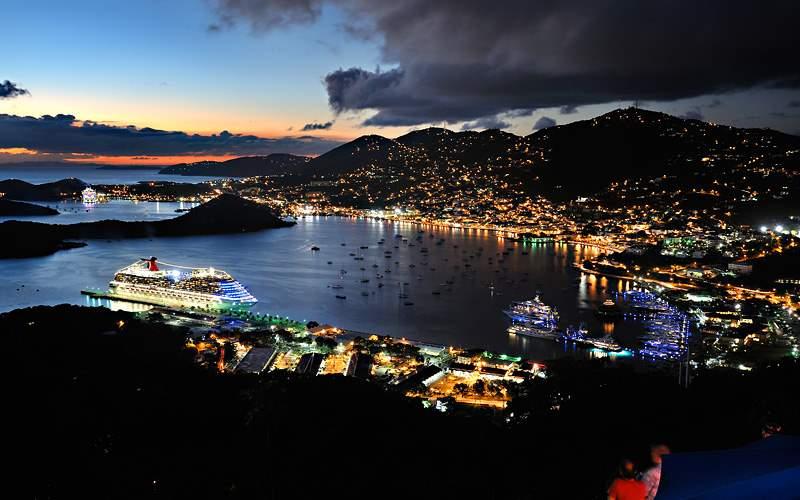 St Thomas sunset cruise Carnival Cruises Caribbean