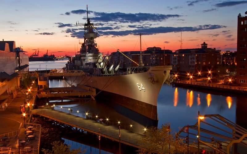 USS Wisconsin Battleship, Norfolk Carnival Cruises