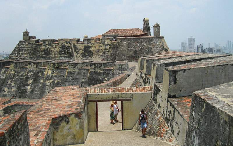 Castle of San Felipe in Cartagena, Colombia