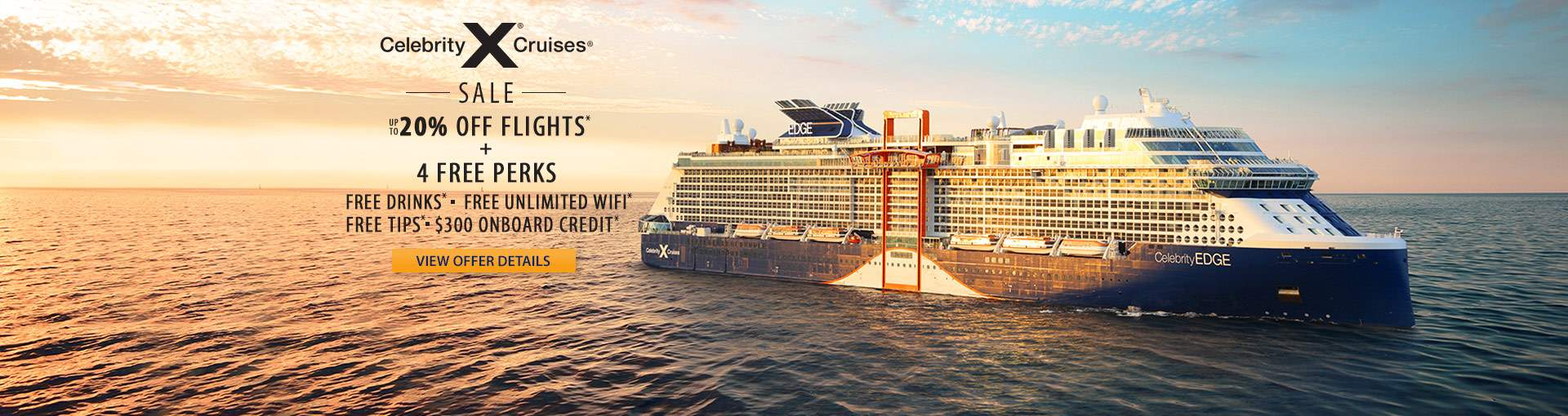 Celebrity Cruises: 20% Off Flights