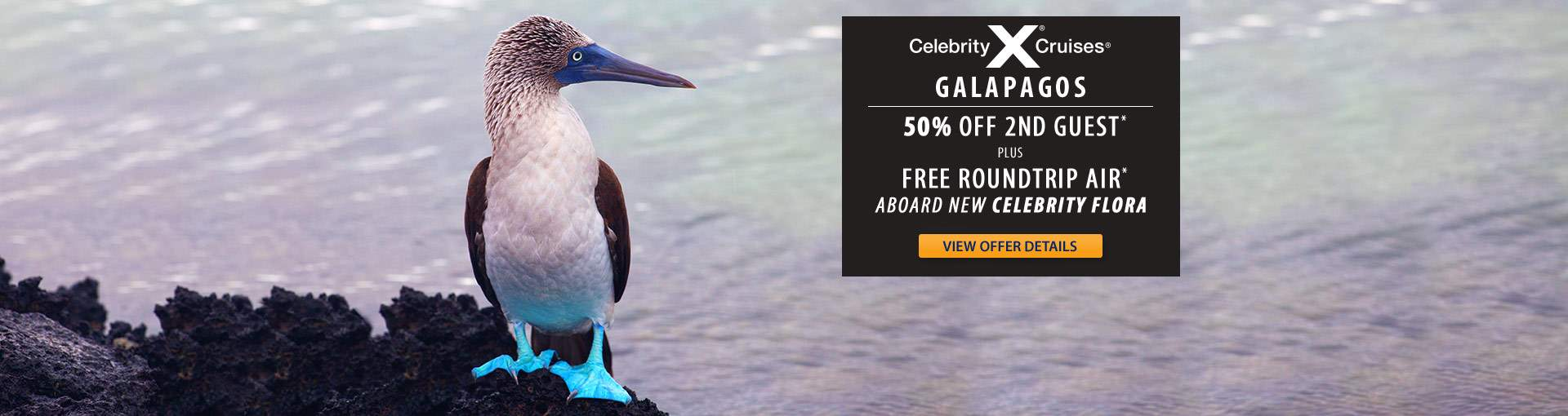 Celebrity Flora: Galapagos Package Offer