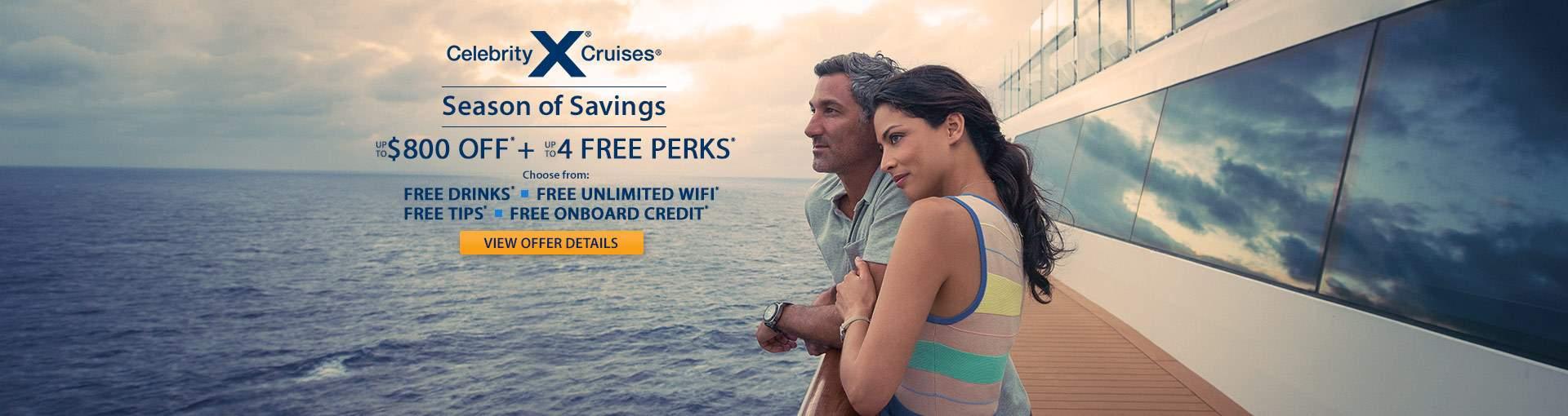 Celebrity Cruises with Savings plus Free Perks