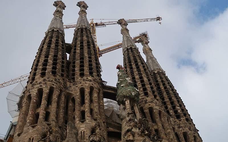 Gothic architecture by Antoni Gaudi