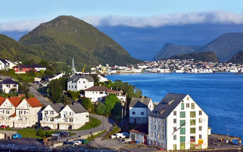 Alesund, Norway sea view  fjords Celebrity Cruises