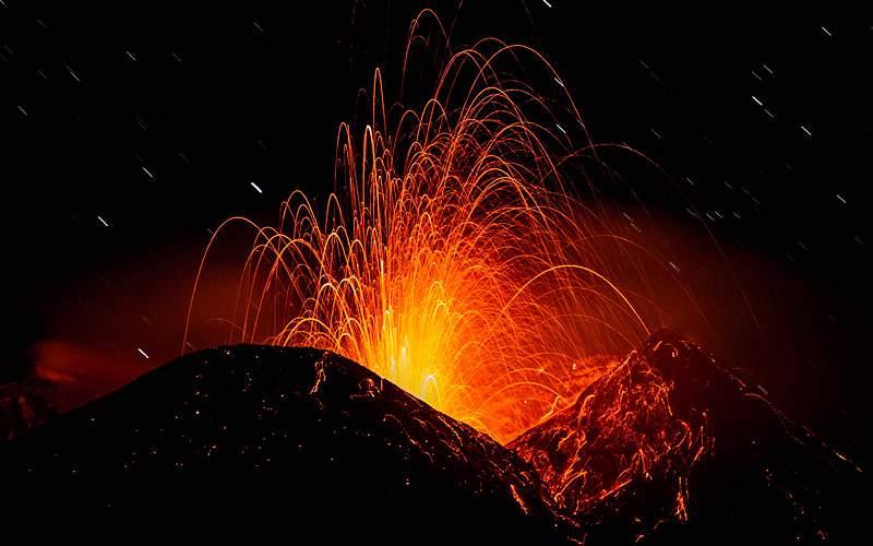 Etna eruption Celebrity Cruises Mediterranean